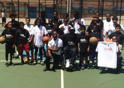 Wheelchairs Against Guns Basketball Clinic